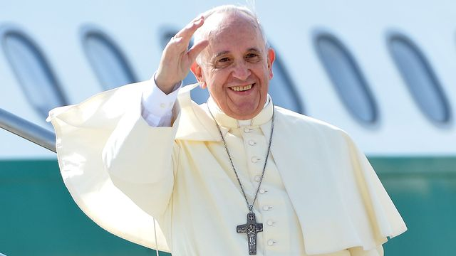 Le pape François en voyage. [Alberto Pizzoli - AFP]