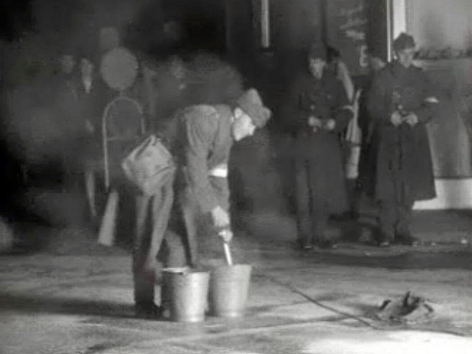Un exercice de la protection civile de la ville de Sion.