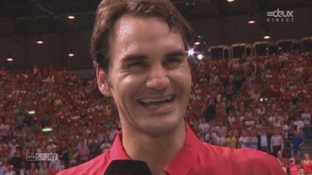 SUI-Italie (3-0): Federer - Fognini (6-2 6-3 7-6 (7-4). Roger Federer et Wawrinka à l'interview [RTS]