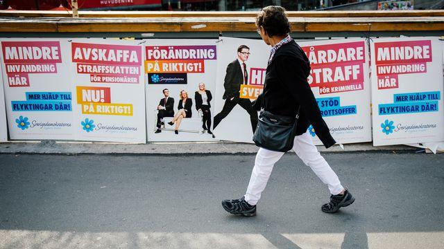L'extrême droite monte en Suède. [Jonathan Nackstrand - AFP]