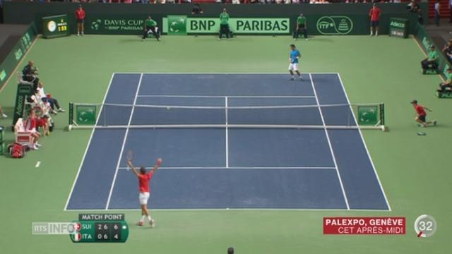 Tennis - Coupe Davis: Federer envoie la Suisse en finale [RTS]