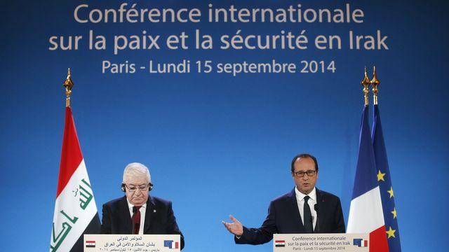 François Hollande a ouvert la conférence sur la paix et la sécurité en Irak [AP Photo/Christian Hartmann/, Pool - Keystone]