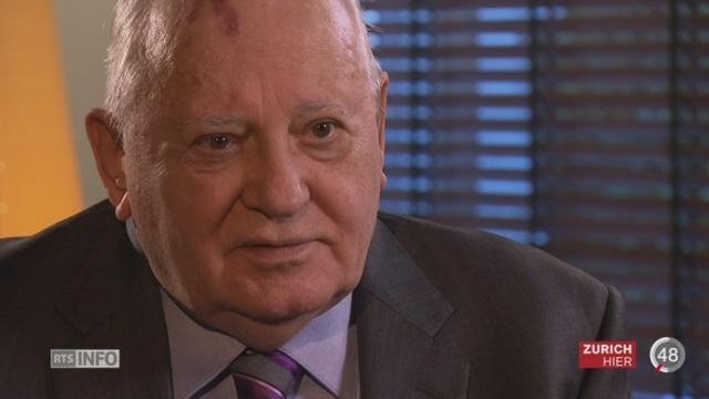 L'ancien maître du Kremlin, Mikhaïl  Gorbatchev, est en Suisse pour les 20 ans de Green Cross [RTS]