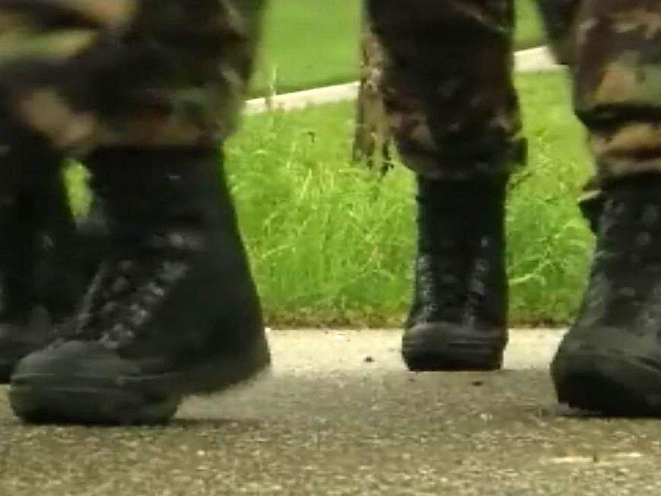 Le moral des troupes d'infanterie dans les chaussettes.