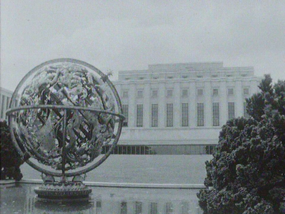 Palais des Nations à Genève en 1967 [RTS]