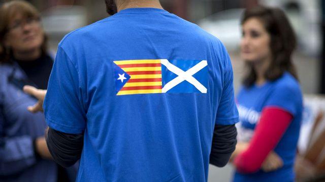 Les indépendantistes européens sont venus soutenir leurs pauirs écossais. [Matt Dunham - Keystone]