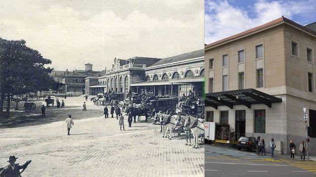 La gare Cornavin à Genève, autrefois et de nos jours [RTS]