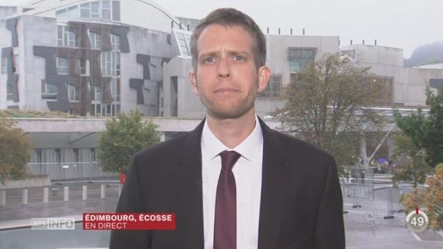 Référendum en Ecosse: le point avec Gaspard Kuhn, depuis Edimbourg [RTS]