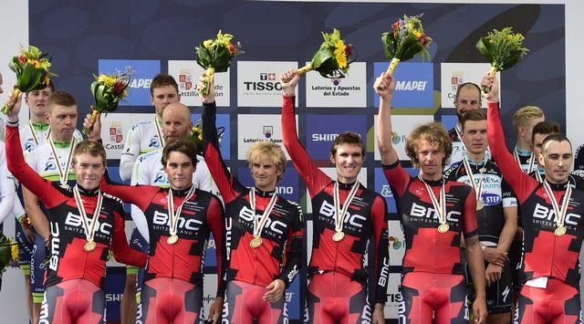 Les BMC ont franchi un palier supplémentaire pour s'offrir leur première médaille d'or. [Javier Soriano - AFP]
