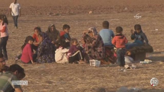 Les Kurdes de Syrie fuient devant l'avancée des djihadistes de l'État islamique [RTS]