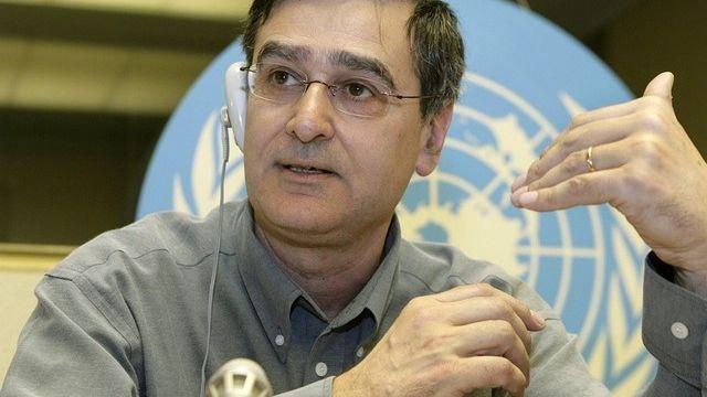 Martin Beniston, titulaire de la chaire de climatologie à l'Université de Genève. [Keystone - Salvatore di Nolfi]