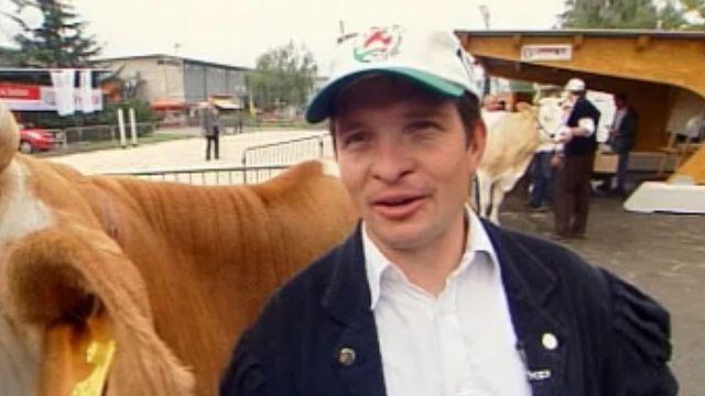 La famille Poncet présence chaque année son bétail à Beaulieu.