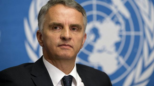 Didier Burkhalter estime que les Etats-Unis auraient dû requérir l'accord du Conseil de sécurité. [Salvatore Di Nolfi - Keystone]