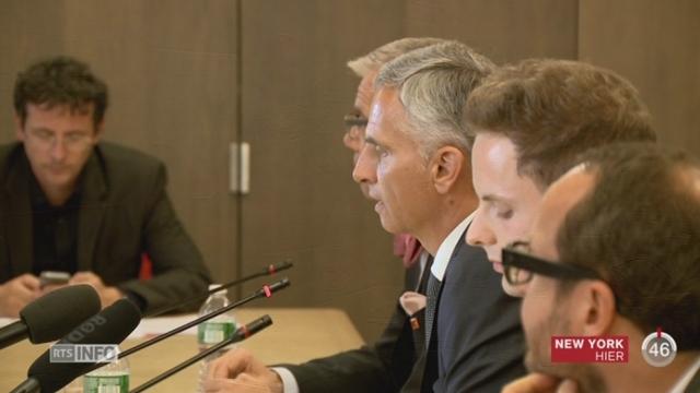 Selon Burkhalter, il faudrait attendre une résolution du Conseil de sécurité de l'ONU [RTS]