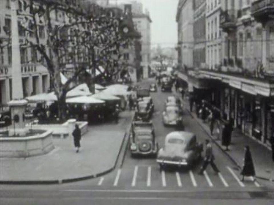 Place du Molard en 1954 [RTS]