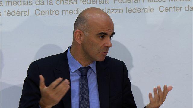 Alain Berset s'est exprimé jeudi à Berne.