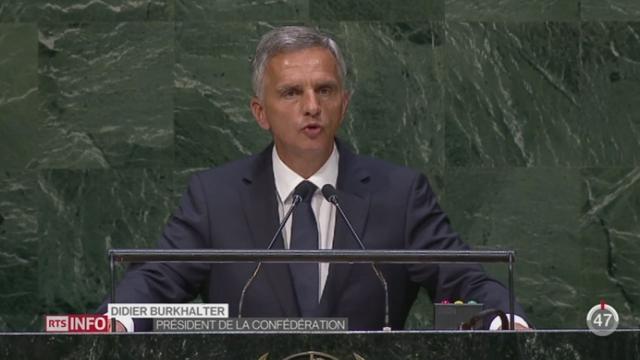 Didier Burkhalter est revenu sur la crise syrienne devant l'ONU [RTS]