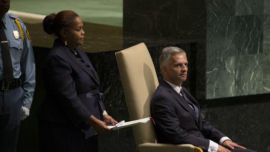 Didier Burkhalter participait à un événement coorganisé par la Suisse et le Ghana en marge de l'assemblée générale de l'ONU. [John Minchillo - AP Photo]