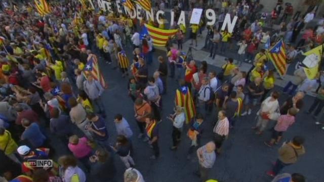 Le président catalan convoque un référendum sur l'indépendance [RTS]