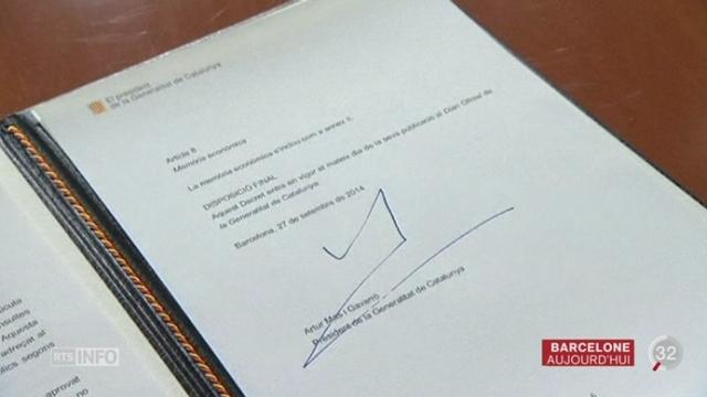 La Catalogne convoque un referendum pour son indépendance [RTS]