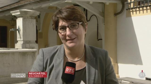 Les Neuchâtelois élisent le remplaçant d'Yvan Perrin au Conseil d'Etat: les précisions de Raphaèle Tschoumy, à Neuchâtel [RTS]