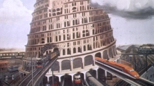 """Exposition """"Le Temps des gares"""" à Beaubourg [TSR 1979]"""