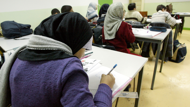 Pour la commission, religion ne doit pas défavoriser les filles à l'école.  [Daniel Janin - AFP]