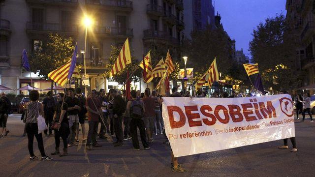 Il n'aura pas fallu deux jours au gouvernement espagnol pour saisir le tribunal constitutionnel. Et s'opposer ainsi au référendum catalan annoncé pour le 9 novembre. [Alejandro Garcia - EPA - Keystone]
