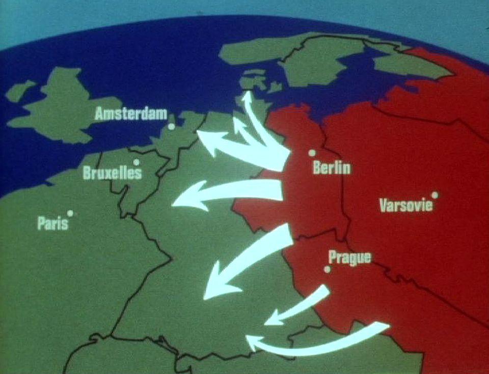 Carte stratégie Pacte de Varsovie. [RTS]