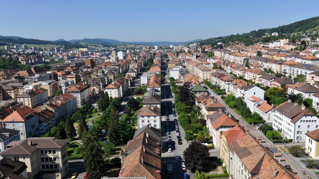Vue aérienne de La Chaux-de-Fonds. [chaux-de-fonds.ch]