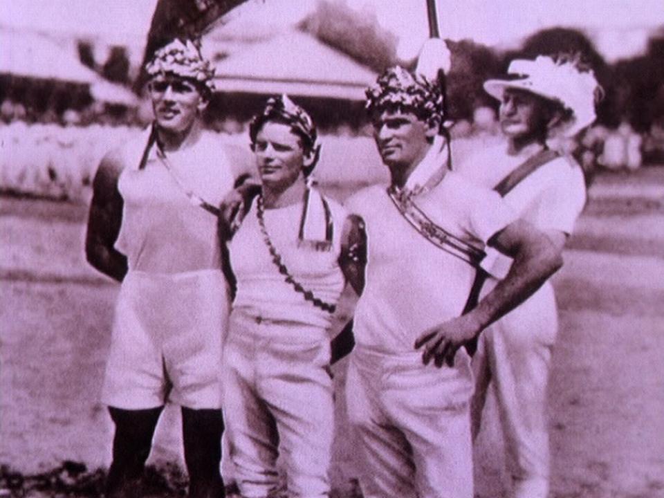 Fête fédérale de gymnastique à Genève en 1925. [RTS]