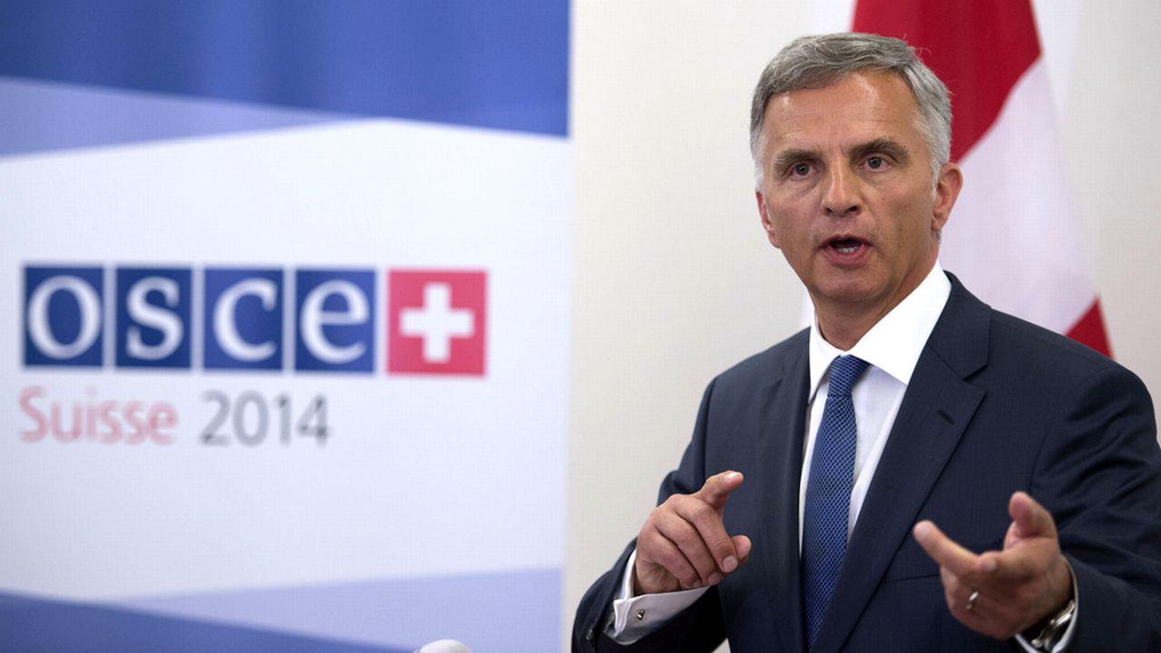 Didier Burkhalter demande à la Russie de passer de la parole aux actes [Gian Ehrenzeller - Keystone]