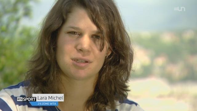 Tennis: rencontre avec Lara Michel, 292ème joueuse mondiale, qui se bat pour se faire connaître [RTS]