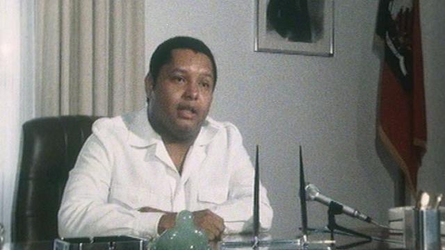 En 1981, Jean-Claude Duvalier, président à vie d'Haïti. [RTS]