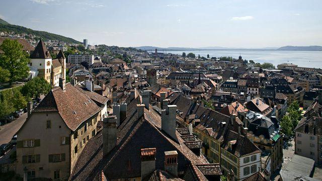 Vue de la Ville de Neuchâtel. [Gaetan Bally - Keystone]