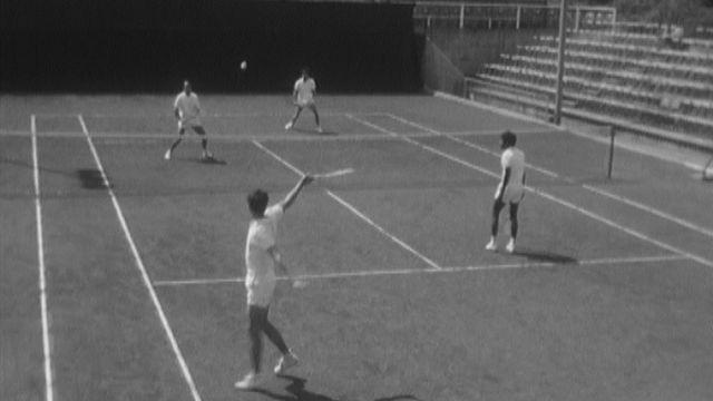 Coupe Davis entre la Suisse et la France en 1970 [RTS]