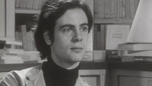 Patrick Modiano, tout jeune écrivain en 1969. [RTS]