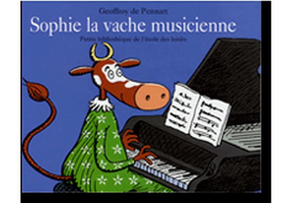 """""""Sophie la vache musicienne"""" de Geoffroy de Pennart. [RTS]"""
