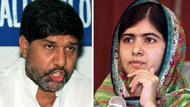 L'Indien Kailash Satyarthi et la jeune Pakistanaise Malala Yousafzay ont été récompensé pour leur lutte pour les droits de l'enfant. [Ravenndran/Emmanuel Wole - AFP]