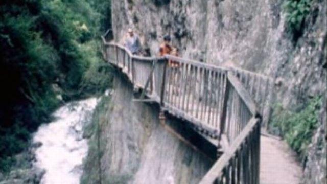 Les gorges du Durnand, dans le canton du Valais. [RTS]