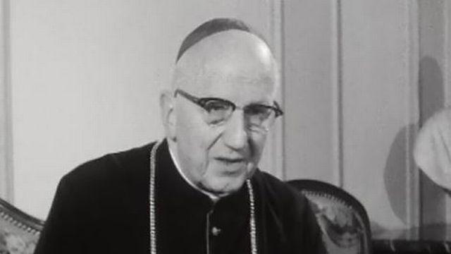 Mgr Louis Haller, abbé de Saint-Maurice en 1965 [RTS]