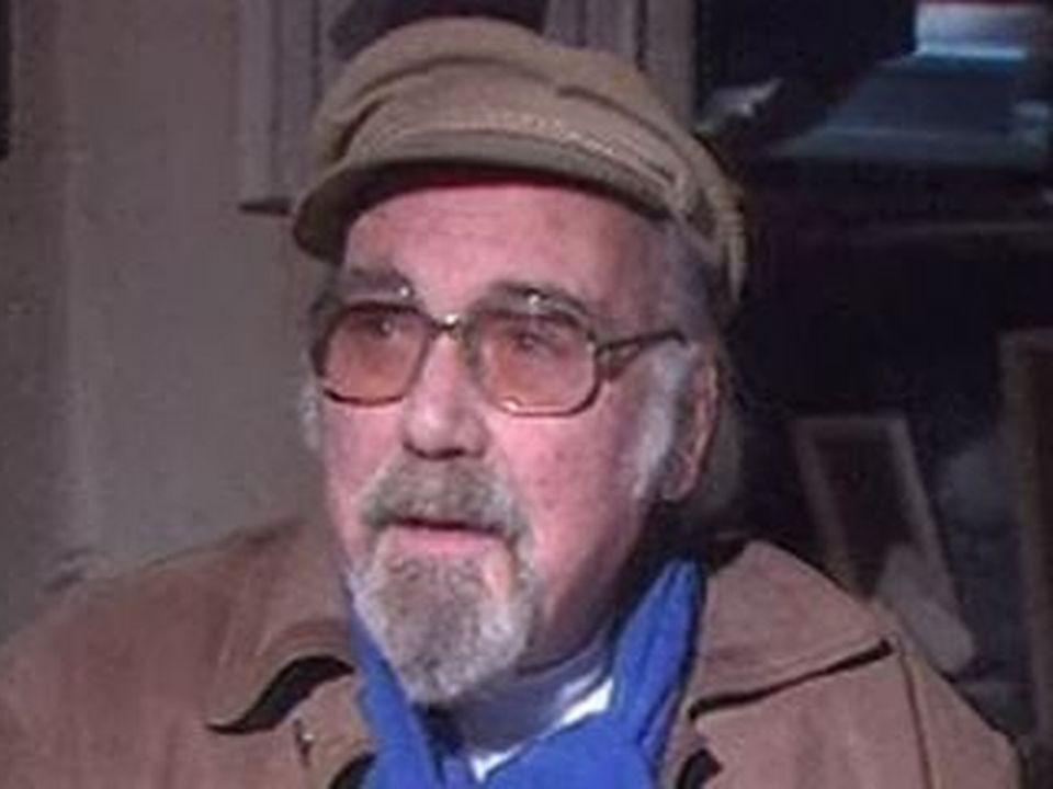 Tristan Solier, peintre et écrivain dans son atelier, en 1988 [RTS]