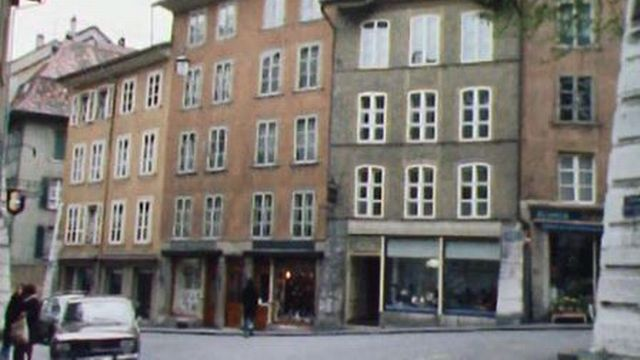 La crise dans l'horlogerie affecte durement la ville de Bienne. [RTS]