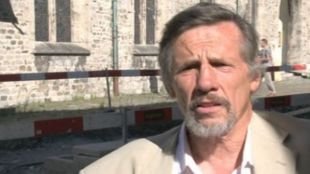 François Wiblé, archéologue cantonal valaisan, en 2013 [RTS]