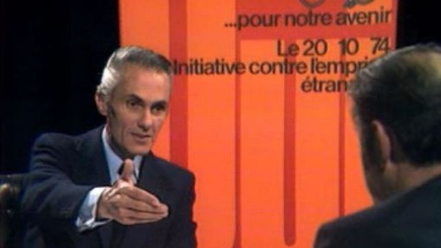 Georges Breny, conseiller national genevois de l'Action nationale [RTS]