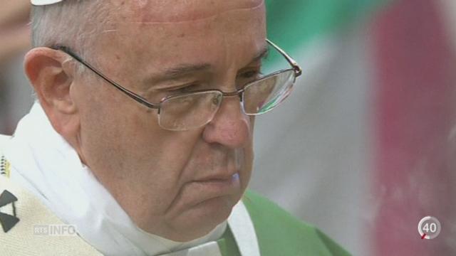 Le synode extraordinaire sur la famille, convoqué par le pape François, s'achève après deux semaines [RTS]
