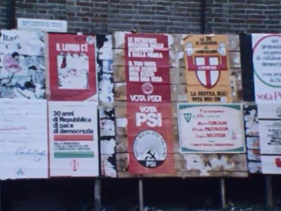 Lutte entre parti communiste et démocratie-chrétienne en Italie. [RTS]