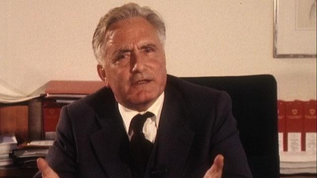 Georges-André Chevallaz en 1976. [RTS]