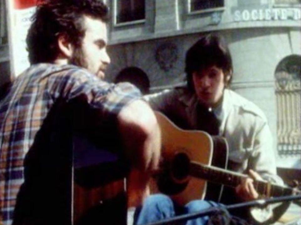 Musiciens participant au First Folk Festival de Nyon, en 1976. [RTS]