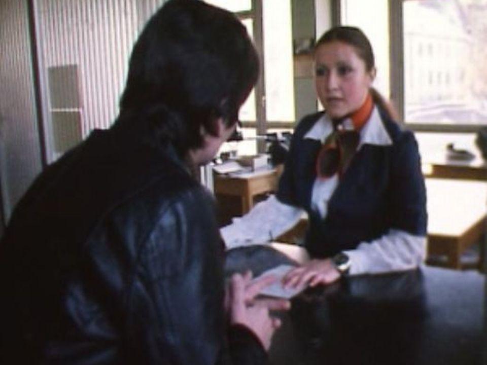 Bureau du chômage en 1976. [RTS]